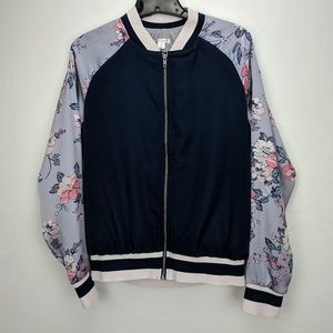 Xhilaration floral zip up jacket